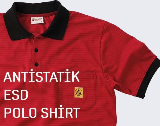 esd antistatik polo shirt tshirt